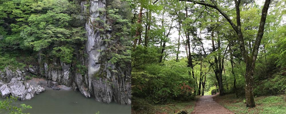 「天龍峡」渓谷と自然