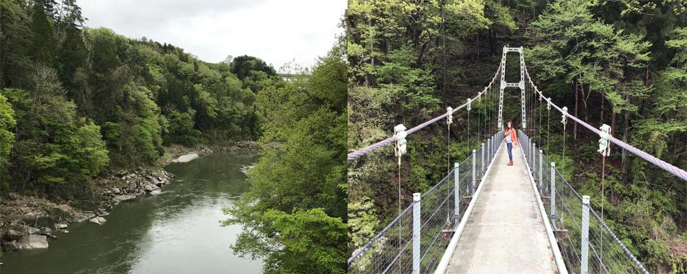 「天龍峡」渓谷と吊り橋