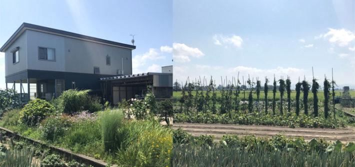 秋田の実家から見た景色