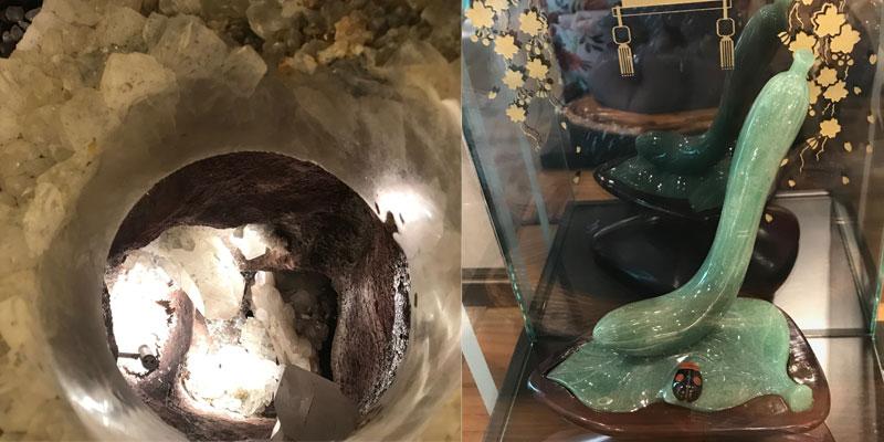 水晶の洞窟と水晶のキュウリ??